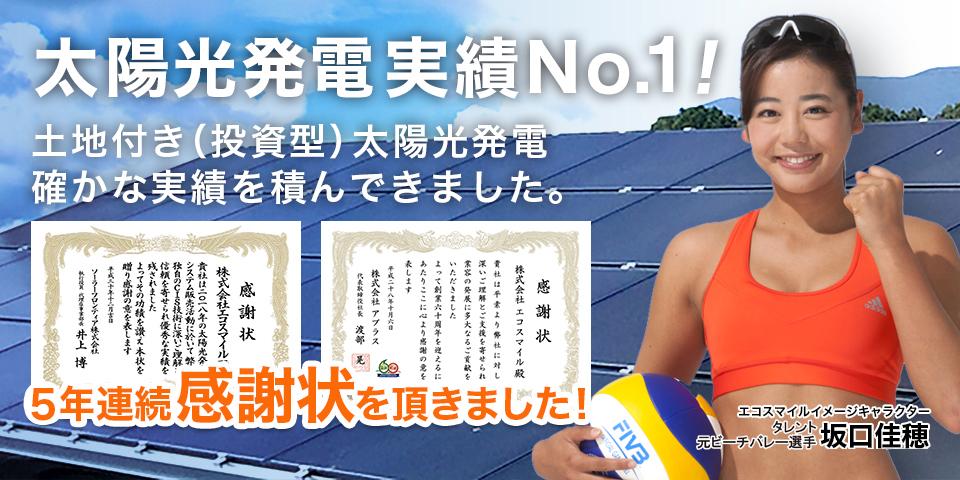 太陽光発電実績No.1エコスマイル